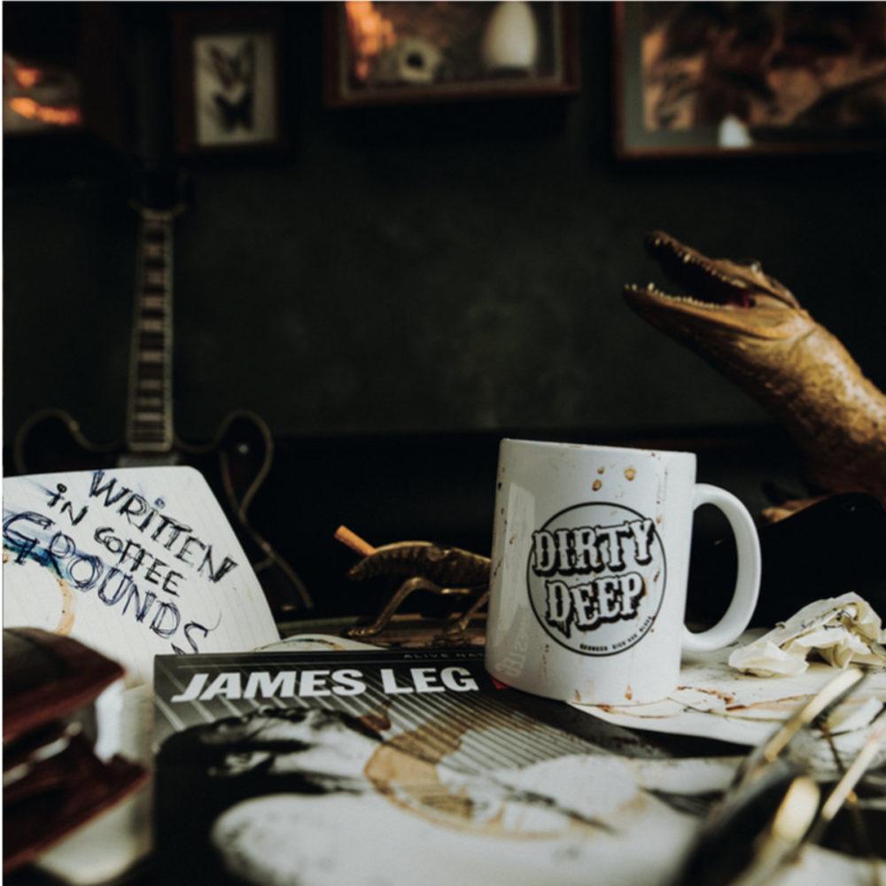 "Pochette Album de Dirty Deep ""Written in Coffee Grounds"""