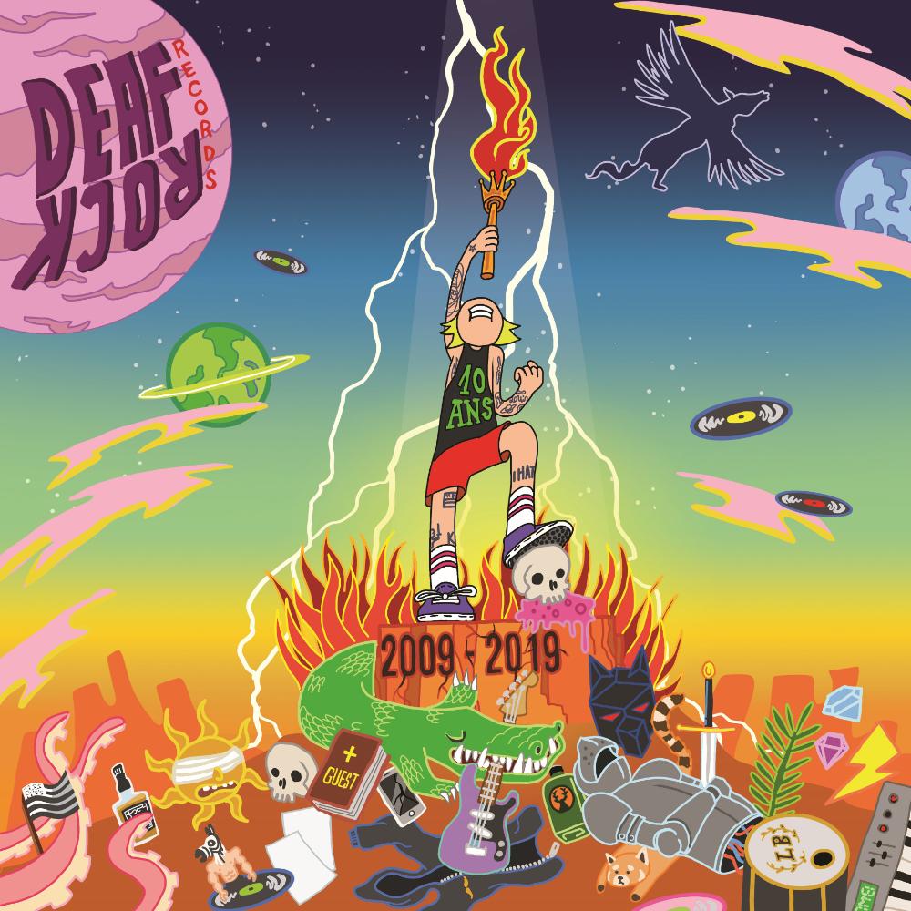 Deaf Rock 10 ans visuel vinyle