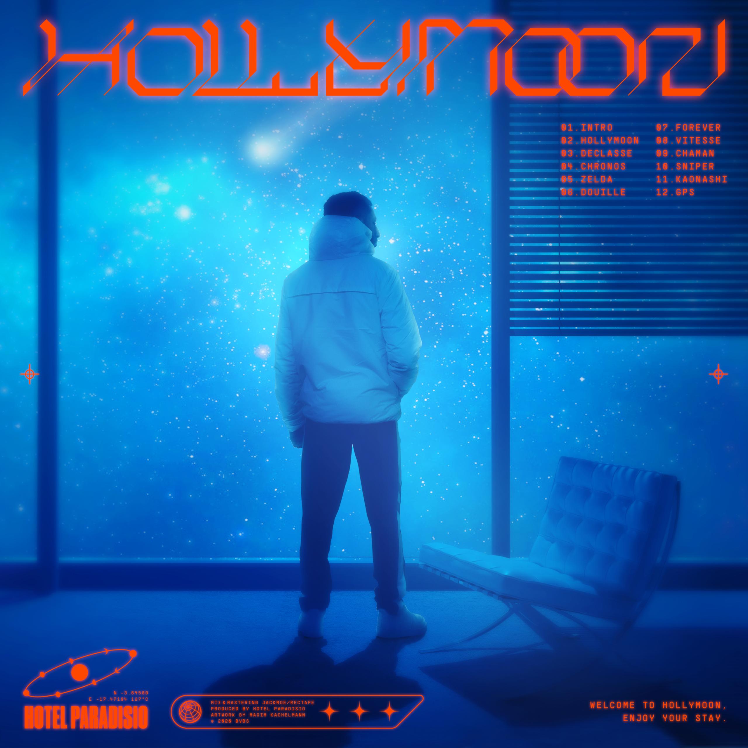 "Cover de l'album ""Hollymoon"" d'Hotel Paradisio"